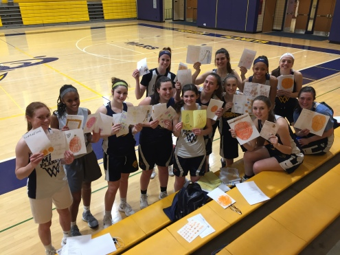 Thank you Mars Elementary School for our GOOD LUCK cards!