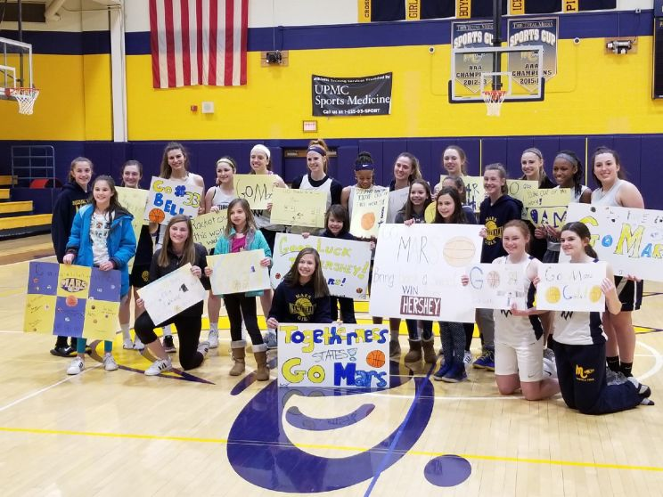 Thank you Mars Youth Basketball for wishing us luck!