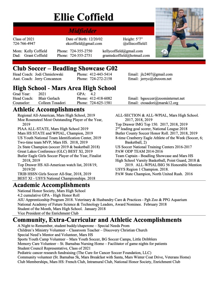 Ellie Coffield Resume 1